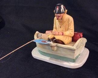Norman Rockwell Porcelain Figurine Wet Sport.