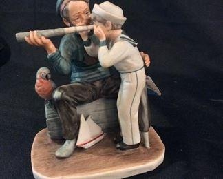 Norman Rockwell Porcelain Figurine Captain.