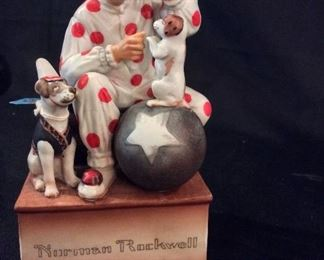 Norman Rockwell Porcelain Figurine Send in the Clowns.