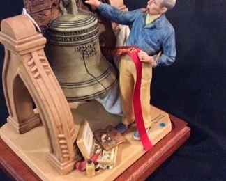 Norman Rockwell Porcelain Figurine Celebration.