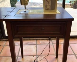 Kenmore Sewing machine with Foot pedal and wood cabinet