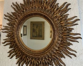 Radiating Sunburst Mirror on a Dramatic Scale, more than 4' in diameter