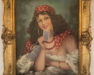Unsigned, Fortune Teller, Oil on Canvas,  20X24