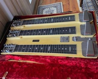 T8  three neck steel guitar by FENDER