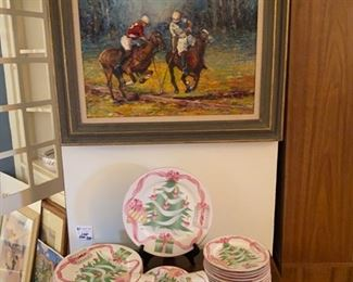 Christmas china and Polo ponies by Black