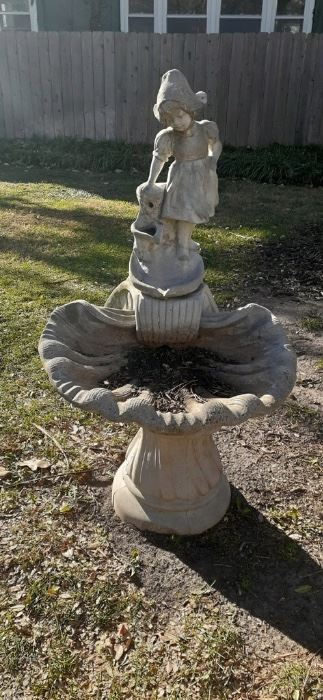 cement bird bath