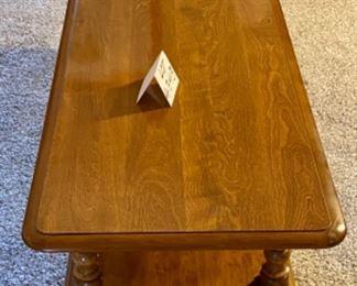 "Lot 4343.  $275.00.  20th Century Early American Ethan Allen Heirloom Nutmeg Maple 50"" Coffee Table"
