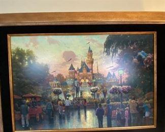 Thomas Kincaid, Ltd. edition Disney, with COA