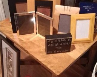 LOTS OF GREAT FRAMES IN ALL SIZES  $1.00 TO $35.00 DEPENDING ON SIZE.
