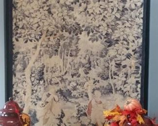 LARGE AND INTRICATE BELGIUM TAPESTRY  $750