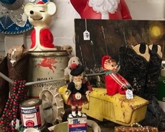 Lots of vintage Christmas.