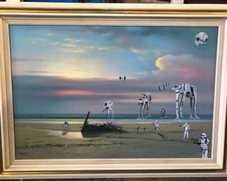 Original Star Wars art with storm troopers