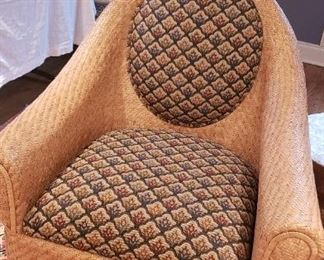 Rattan Armchair fabric cushion