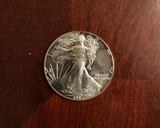 Uncirculated Walking Liberty Silver Dollar (1987)