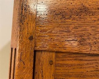 SOLID OAK WITH DISTRESSED FINISH AND PEG CONSTRUCTION. QUALITY PIECE FROM FRANCE!