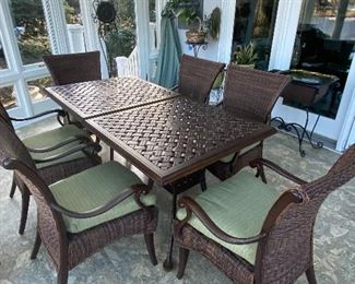 THIS IS 2 TABLES AND 6 CHAIRS BEING SOLD AS A SET.  USE TOGETHER OR SEPERATELY!