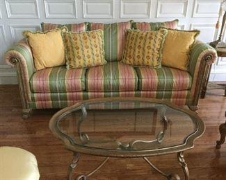 Silk striped sofa from Lloyds