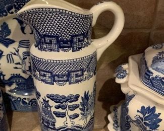 $85~OBO~ BLUE WILLOW PITCHER