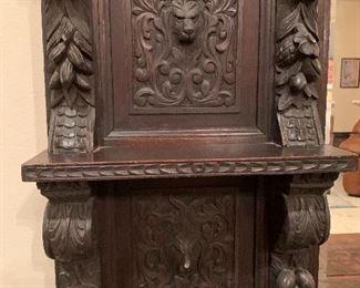 $1250  ~ OBO ~Magnificent hand-carved German tiger oak antique step back cupboard  58x35x20