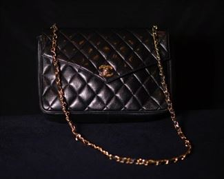 Chanel Flap Large Classic Black Caviar Shoulder Bag