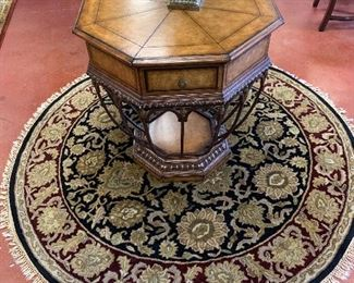 Octagon table  6' round rug sold