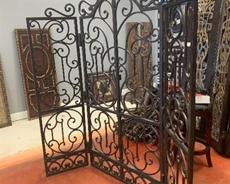 "Metal/iron room divider 85"" H x 75""W Very heavy"