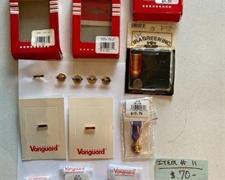 #1115 Piece Lapel Pins & Mini Medals$70