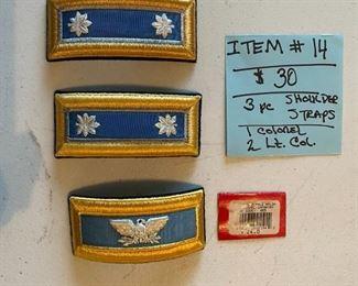 #143 Pc.~1 Shoulder Board Strap Colonel~2 Lt.                                   Colonel Shoulder Strap               $30