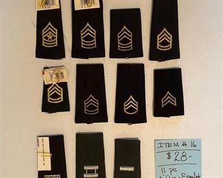 #16Military Epaulets ~ 11 Pieces$28