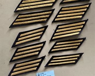 #1710 Piece Navy Hash Marks ~ Gold$50