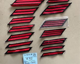 #1814 Piece Navy Hash Marks ~ Red$50