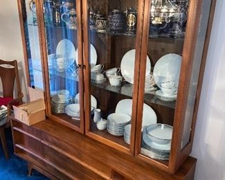Young Manufacturing Co.  China cabinet is SOLD Table and chairs $825