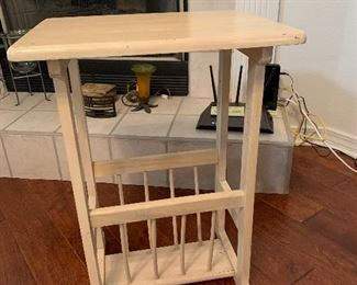 small white side table $30 PRESALE