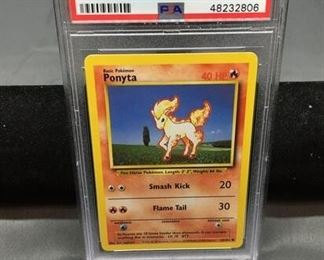 PSA Graded 1999 Pokémon Base Set Unlimited #60 PONYTA Trading Card - GEM MINT 10