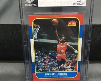 BGS Graded 1996-97 Fleer Decade of Excellence MICHAEL JORDAN Bulls Basketball Card - MINT 9