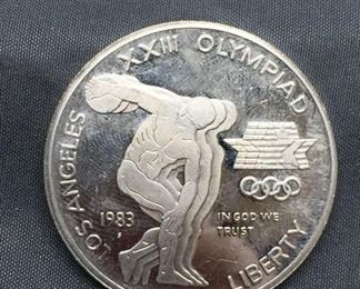 1983 United States Olympics Silver Dollar - 90% Silver Coin