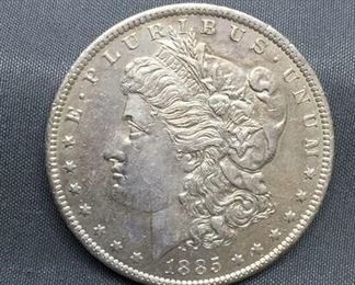 1885-O United States Morgan Silver Dollar - 90% Silver Coin
