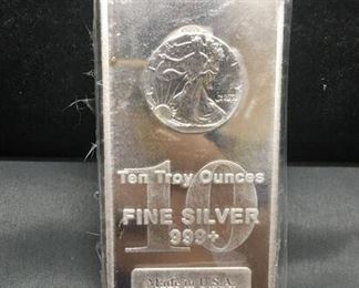 10 Troy Ounces .999 Fine Silver Walking Liberty Coin Decoration Silver Bullion Bar