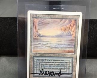 Hand Signed Magic the Gathering UNDERGROUND SEA Revised Dual Land AUTOGRAPHED By Artist Trading Card