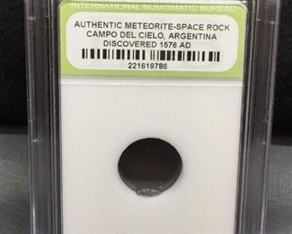 INB Slabbed AUTHENTIC METEORITE Space Rock - Campo Del Cielo Argentina - Discovered 1576 AD