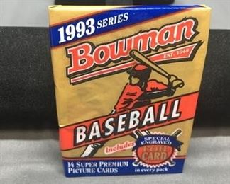 Factory Sealed 1993 Bowman MLB Baseball 14 Card Pack - DEREK JETER RC?