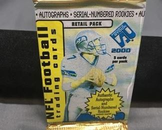 Factory Sealed 2000 Pacific Private Stock NFL Football 5 Card Pack - Tom Brady RC?