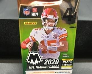 Factory Sealed 2020 Panini Mosaic NFL Football 4 Card Pack - Burrow, Herbert, Tua RC?