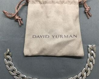 HIGH END AUTHENTIC DAVID YURMAN DY Heavy Sterling Silver DESIGNER BRACELET & BAG