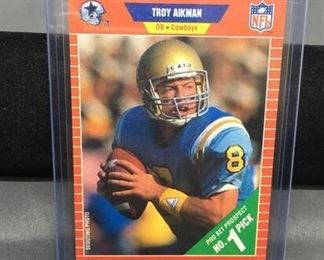 1989 Pro Set #490 TROY AIKMAN Cowboys ROOKIE Football Card