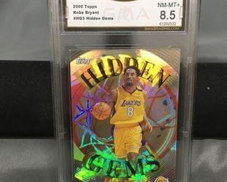 GMA Graded 2000-01 Topps Hidden Gems KOBE BRYANT Lakers Insert Basketball Card - NM-MT+ 8.5