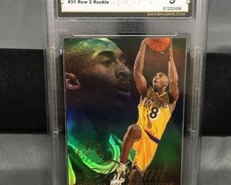 GMA Graded 1996-97 Flair Showcase Row 2 #31 KOBE BRYANT Lakers ROOKIE Basketball Card - MINT 9
