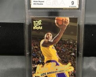 GMA Graded 1996-97 Ultra #52 KOBE BRYANT Lakers ROOKIE Basketball Card - MINT 9