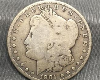 1901-O United States Morgan Silver Dollar - 90% Silver Coin from Estate