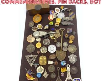Lot 6 Large Lot Medals Badges, Commemoratives, Pin backs, Bot